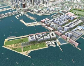 Waterfront Auckland design concept for the Wynyard Quarter